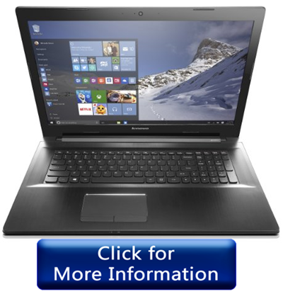 Lenovo Z70 - 17 inch best laptop under 750