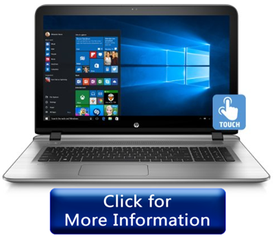 HP ENVY 17-s030nr touch screen laptop for elders