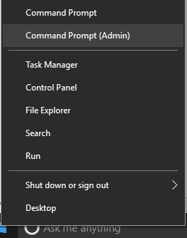 run as command in windows 10