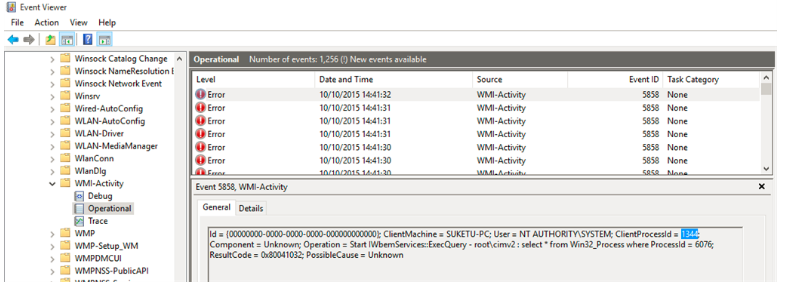 wmi provider host event viewer