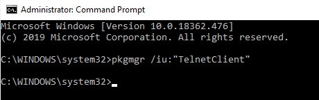 Telnet By Command Prompt