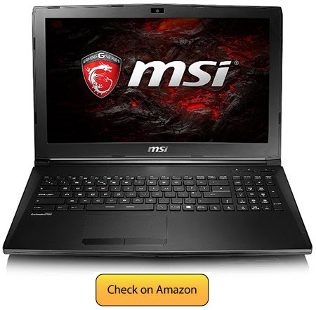 MSI GL62M - best laptop for photo editing 2017