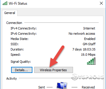 Open Wireless Properties On Windows 10