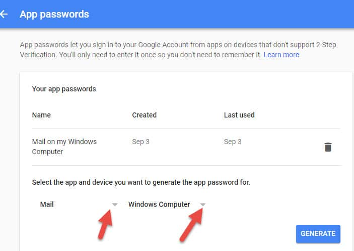 App Password For Email On Windows