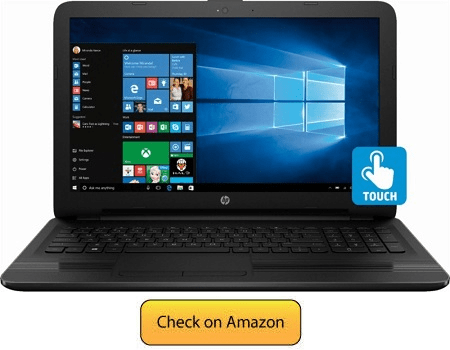 HP Touchscreen 15 6 Inch HD Laptop - Gaming laptop under 600