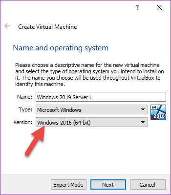 Select The OS Version