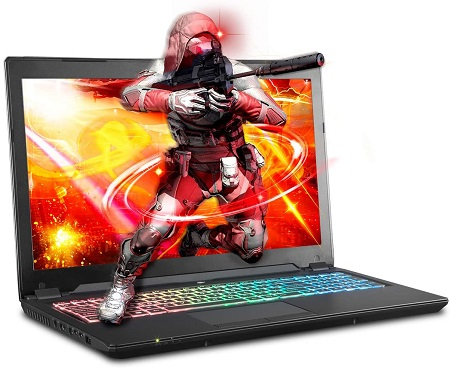 Sager NP8957 Thin And Light Gaming Laptop