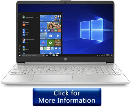 HP 15 Inch 10th Gen Touch Screen Laptop Under 500