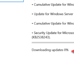 Downloading Update Stuck