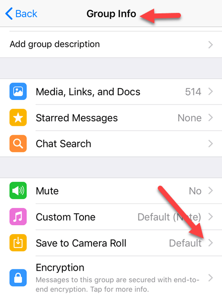 Save To Camera Roll Option