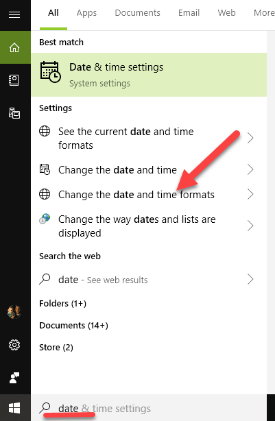 Date Format Search