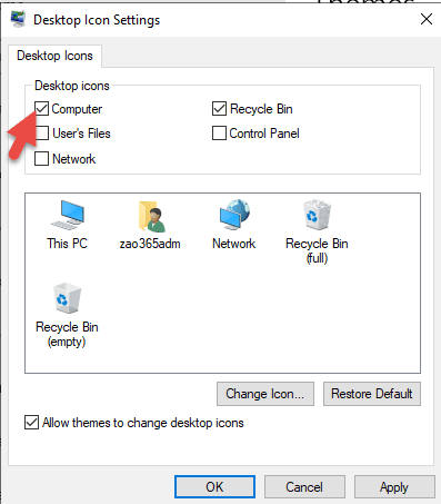 Enable This PC On Windows 2019 Server