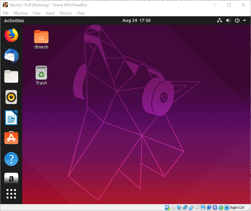 Working Ubuntu 19 04 On VirtualBox