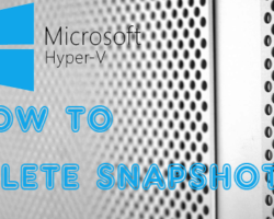 How To Delete Snapshots