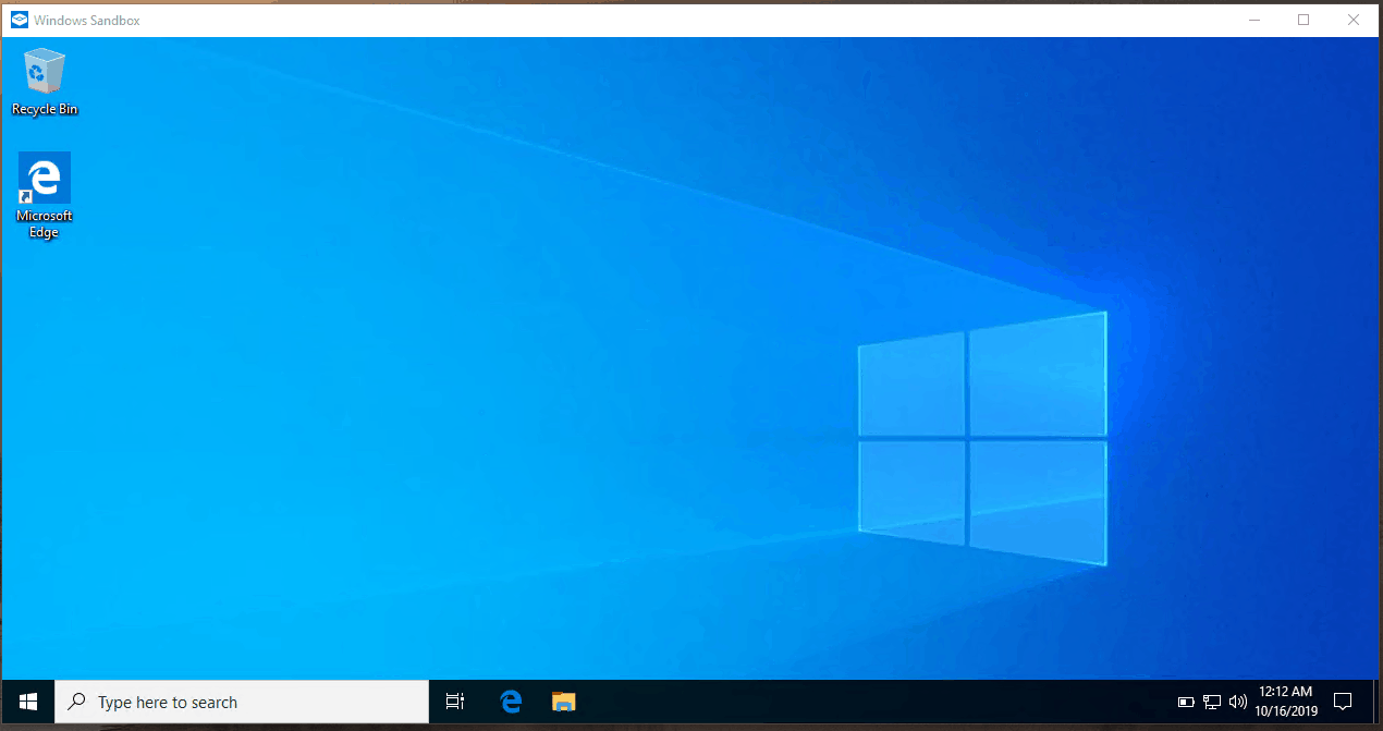 sandbox windows 10