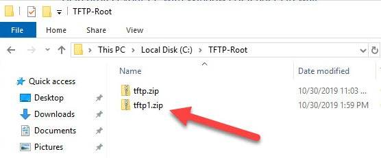 File Location In Solarwind TFTP