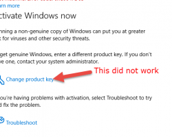 Product Key Pop Up Did Not Work