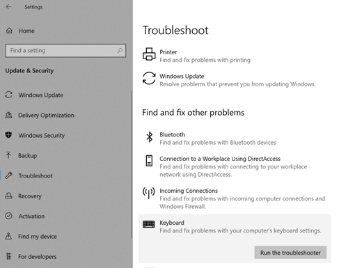 Windows Troubleshooter