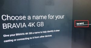 Enter The Name For Your Android TV