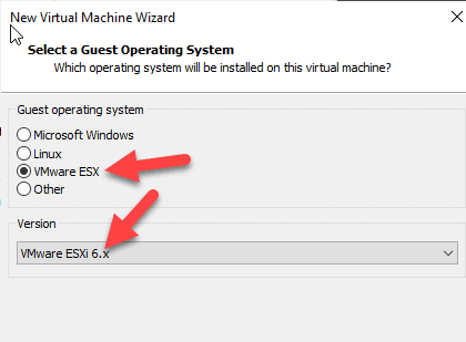 Select The OS Type