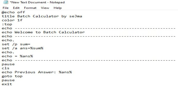 Calculator Trick In Notepad