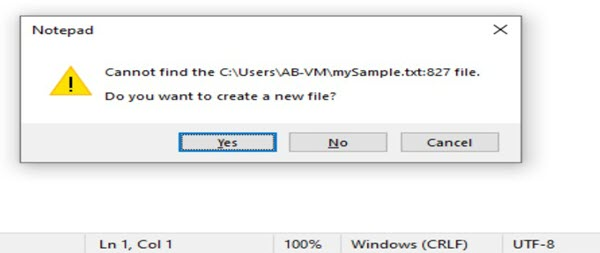 File Save Yes Option