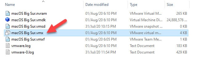 Open The Vmx File