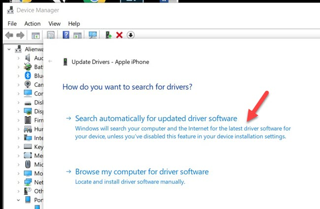 Search Driver Automatically