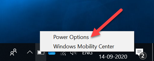 Power Option Access