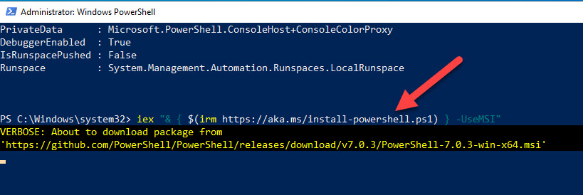 Command To Update PowerShell