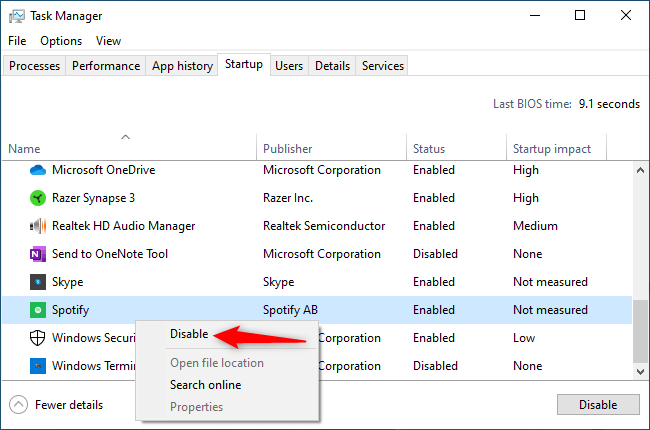 How to Stop Spotify from Opening on Startup in Windows 10
