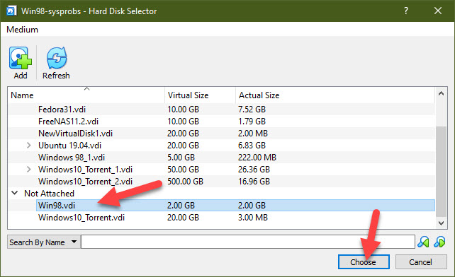 Choose The Disk