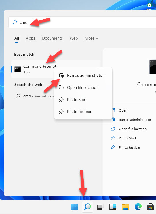 Open Cmd As Administrator In Windows 11